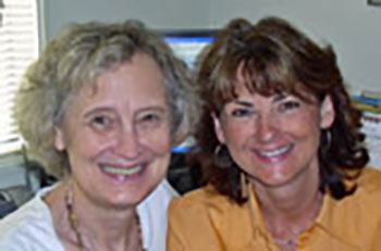 Photo of Peggy Vaughan and Anne Bercht